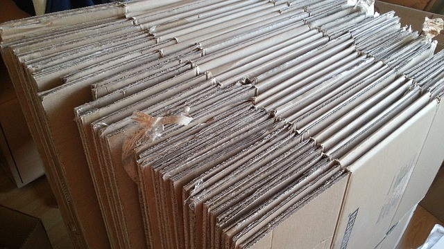 Properly Stored Cardboard Boxes